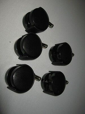 replacement chair casters--- office chairs, stools carts 7/16 stem set of 5 pcs
