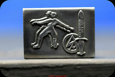 GERMAN WWII MATCHBOX COVER--trench art