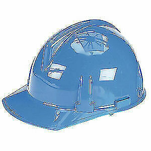 MSA Hard Hat,4 pt. Ratchet,Bl, 475380, Blue