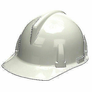 MSA Hard Hat,C, E,White,4 pt. Ratchet, 475385, White