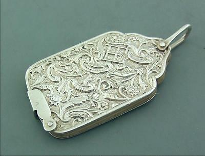Antique Edwardian Solid Silver Aide Memoire Chatelaine Dance Card L.emanuel 1903