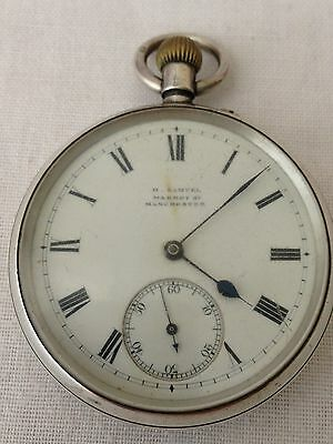 Antique Solid Sterling Silver Pocket Watch Chester 1901 -Not Working  For Repair