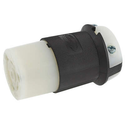 HUBBELL WIRING DEVICE-KELLE Nylon Connector,480VAC,30A,L8-30R,2P,3W,1PH, HBL2643