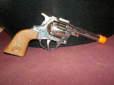 Nice Heavy Toy Cap Gun By Schylling Brown Handle