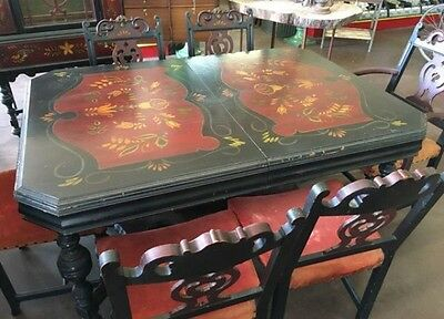 Vintage Hand Painted Dining room Set.