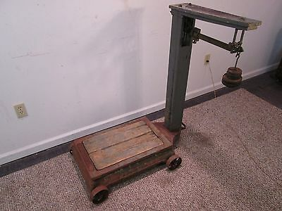Antique Fairbanks 500 Pound Capacity Platform Industrial Farm Scale Made in USA