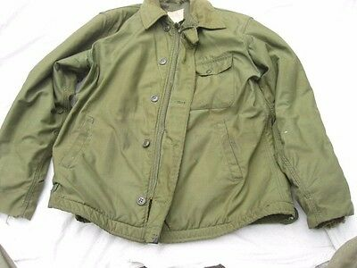 Vintage Original Usn Us Navy A-2 Jacket Cold Weather Permeable Size Large 42-44