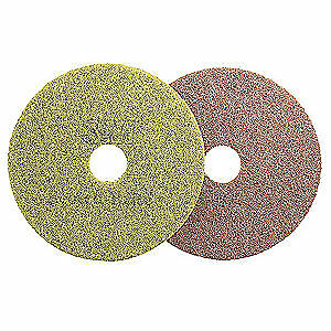 Non-Woven Polyester Fiber Diamond Floor Pad Plus,13 In,Sienna,PK5, 48194, Sienna