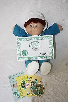 1985 Cabbage Patch Doll with Original Outfit and papers