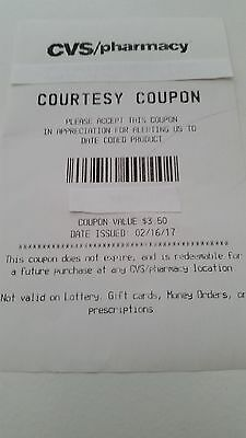 CVS $3.50 Courtesy Coupons Lot of 25