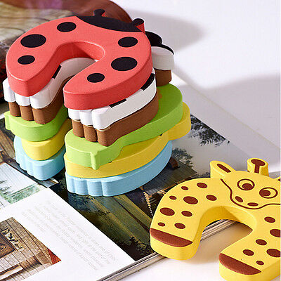 6 x Baby Child Kids Animal Door Stopper Jammer Safety Finger Protector Guard FT