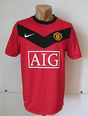 Manchester United 2009/2010 Home Football Shirt Jersey Maglia Nike England (S)