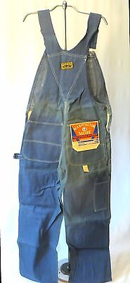Vintage Washington Dee Cee Bib Overalls Denim Jeans Pants dead Stock 30 29