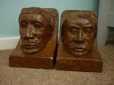 Superb Very Rare Gnomeman Bookends, Mouseman Interest