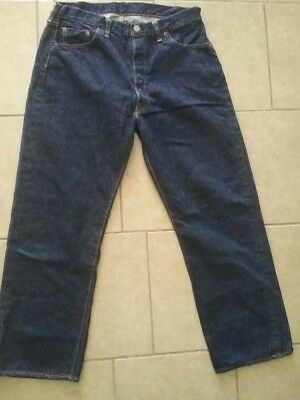Vintage Levis 501 Xx Big E Hidden  Rivets  Blue Demin Size 34 X 29 (Actually)