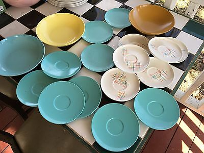 Vintage Melmac Bowls...saucers....fun Stuff For Any Collection...colorful