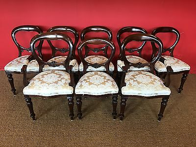 Sets Of 8,10,12,14,16 Victorian Style Balloon Back Chairs Pro French Polished.