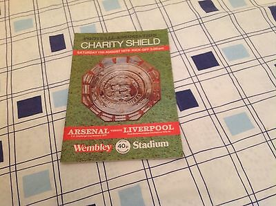 F.A.Charity Shield Arsenal v Liverpool 11/08/1979