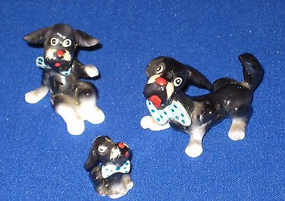 Miniature Bone China Scottie Dog Scottish Terrier Figurines