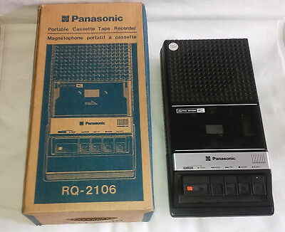 Panasonic RQ-2106 Portable CassetteTape Recorder In Original Box Tested Working