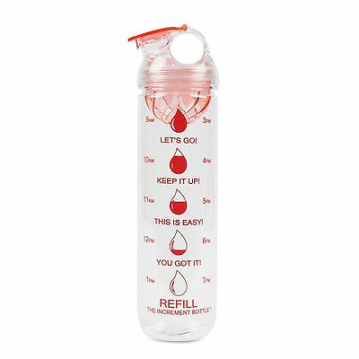 The Increment Bottle Pink Dome Infuser Motivational Diet Water Bottle BPA FREE