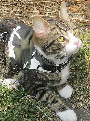 Mynwood Cat Walking Jacket Harness ARCTIC CAMOUFLAGE Adult cat or Kitten