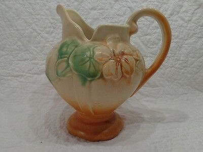 Vintage Weller Pansy Pattern Footed Pitcher