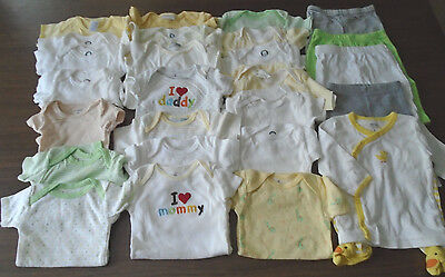 Used 25 Pc. Lot Of Unisex Baby Clothes/bodysuits 0-9 Months Euc/vguc