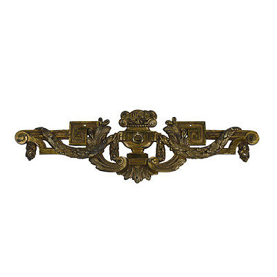 French Antique Bronze Ornaments Louis XVI Decorative Pediment