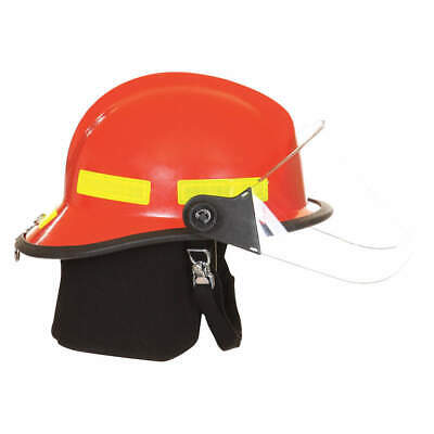 FIRE-DEX Fire Helmet,Red,Modern, 911H713, Red