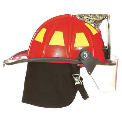 FIRE-DEX Fire Helmet,Red,Traditional, 1910H253, Red