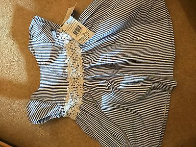 Ralph Lauren baby dress 6 months blue and white