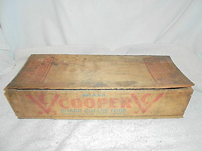 Antique vintage Cooper wood cheese box with lid
