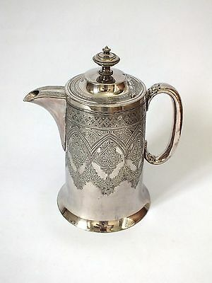 Antique Vintage Walker And Hall Silver Plated Hand Engraved Coffee  Pot