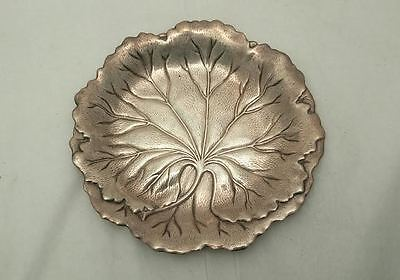 International Sterling Candy Dish in Leaf Motif