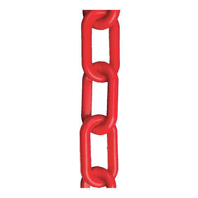 MR. CHAIN Polyethylene Plastic Chain,2 In x 100 ft,Red, 50005-100, Red