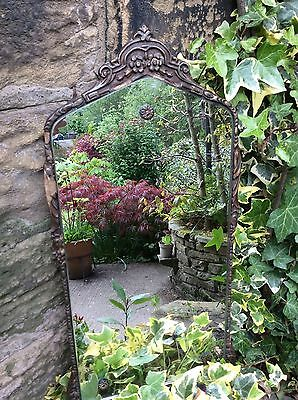 Old Vintage Antique Wooden Handcarved Wall Mirror