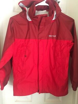 MARMOT Precip Red Waterproof Hooded Rain Jacket Kids/Boys/Girls/Youth M/ Medium