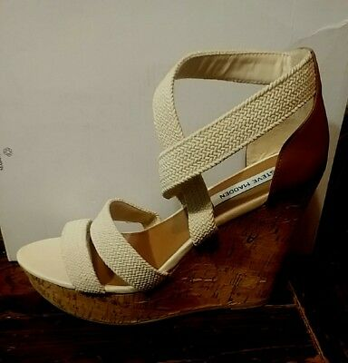 590ab96d9d3a Camdyn By Steve Madden - Women s Wedge Heel Sandals In Natural - Size 10 -  Nib
