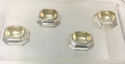 Set of 4 French Silver Salt Trenchers