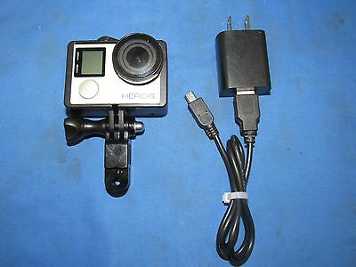 GoPro HERO 4 - CHDHY-401 - Digital Action Camcorder - Silver