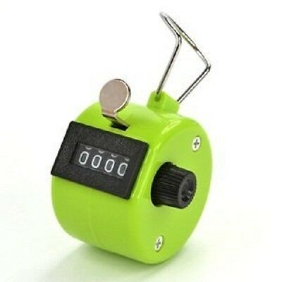 Green Color Handheld Tally Counter 4 Digit Display
