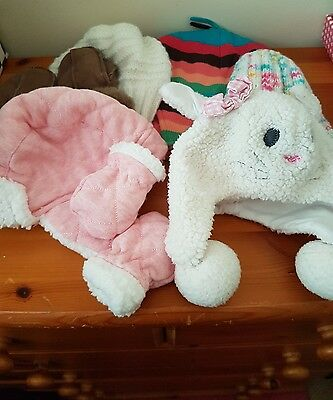 baby girl 5 winter hats 0-9months