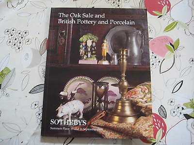 Sotheby's Catalogue Oak & Sale & Pottery + Porcelain Sep98