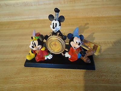 The Disney Store 75 Years Mickey Mouse Steamboat Willie Captain Clock