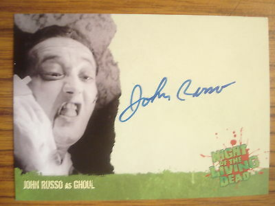 Night Of The Living Dead: Autograph Card: John Russo As Ghoul