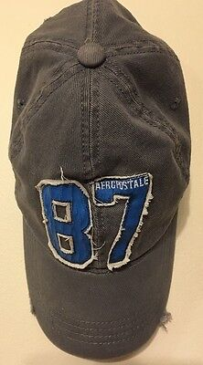 Mens Aeropostale 87 Baseball Hat Cap Fitted Stretch Fit Size L/XL Preowned