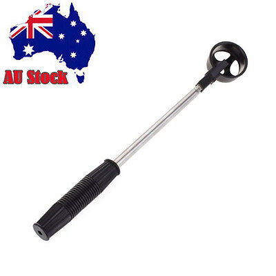 2M long Telescopic Golf Ball Retriever fully extended stainless steel shaft AU