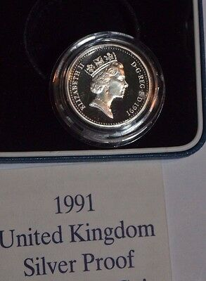 1991 UK Proof Silver 1 Pound Coin