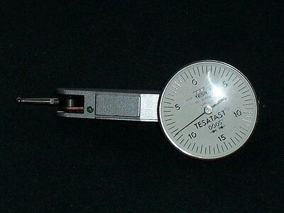 Tesa Tesatast .0005 Swiss Made Dial Indicator Machinist Tool